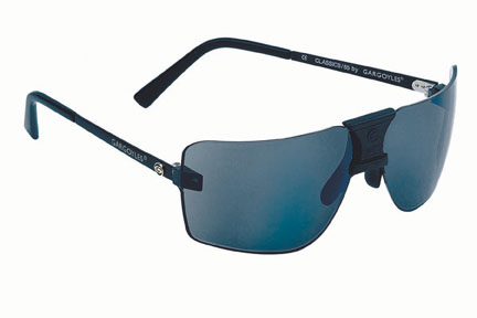 Gargoyles Sunglasses - ANSI 85s Black with Black Ice Lens - Classic Collection - DISCONTINUED