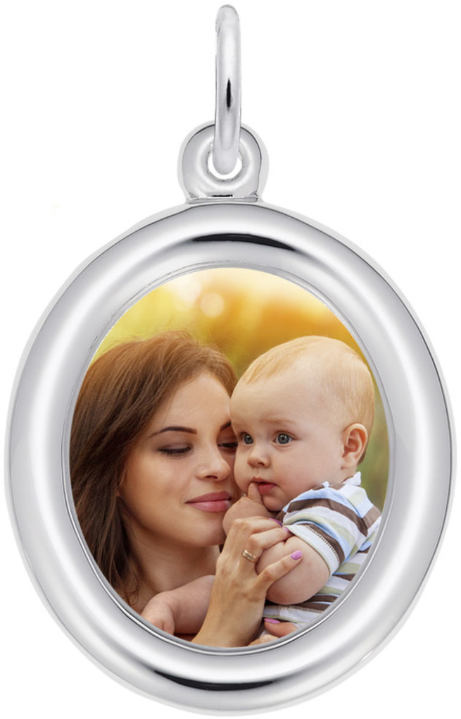 Rembrandt Small Oval PhotoArt Charm (Choose Metal)