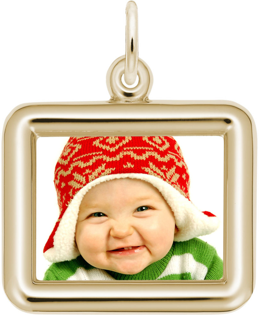 Rembrandt Horizontal Rectangle PhotoArt Charm (Choose Metal)