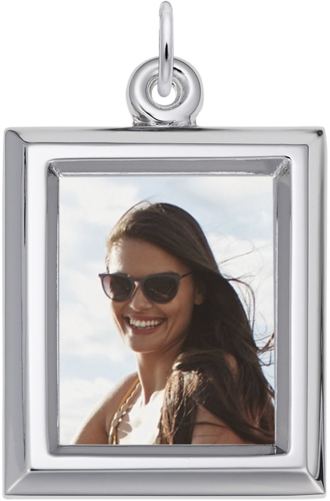 Rembrandt Large Rectangle PhotoArt Charm (Choose Metal)