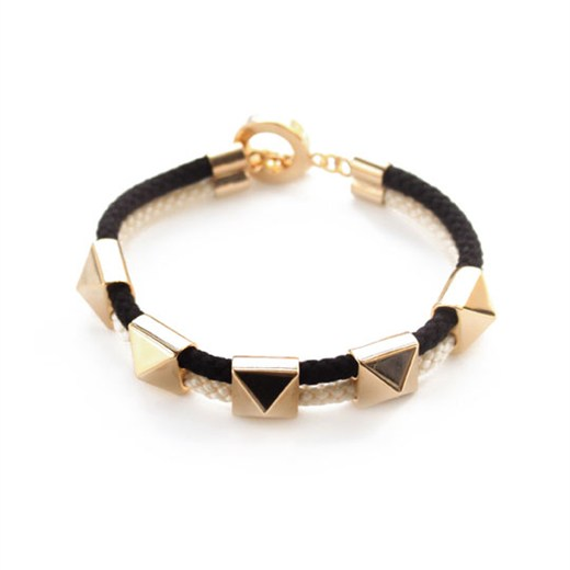 nOir Jewelry - Pixies - Pyramids and Double Rope Bracelet - DISCONTINUED