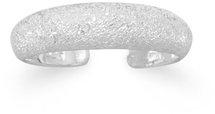 "4mm (1/6"") Starglitter Finish Toe Ring 925 Sterling Silver"