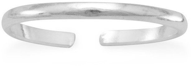 Thin Band Toe Ring 925 Sterling Silver - LIMITED STOCK