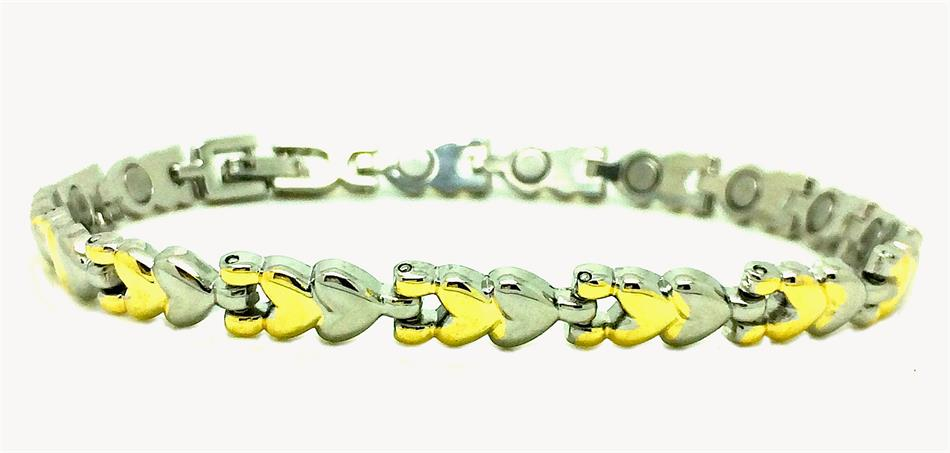 Two Hearts - Magnetic Therapy Anklet (A-1054)