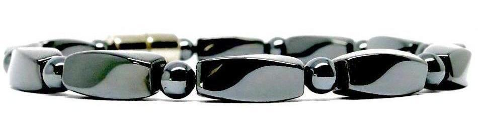 Hematite Small Twist with Clasp - Magnetic Therapy Bracelet