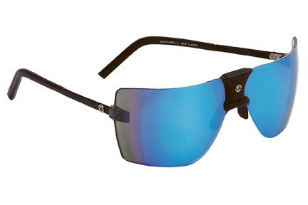 Gargoyles Sunglasses - ANSI Classic Black with Caribbean Blue Lens - Classic Collection - DISCONTINUED