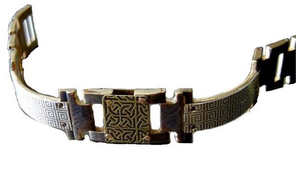 Silver Greek Design WatchCraft (R) Handmade Bracelet (B48)