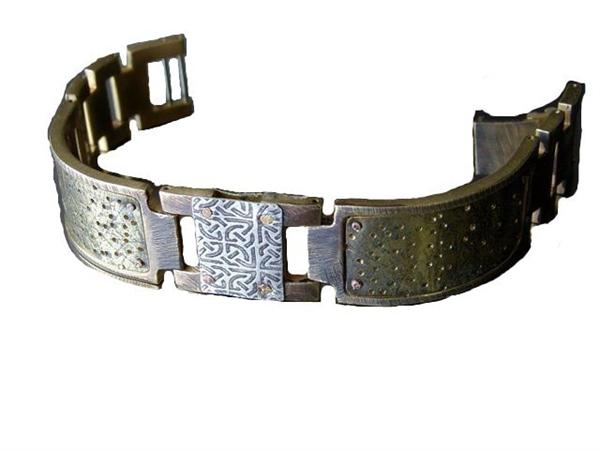Brass Textured Design WatchCraft (R) Handmade Bracelet (B56)