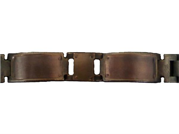 Wide Copper Trim Design WatchCraft (R) Handmade Bracelet (B66)