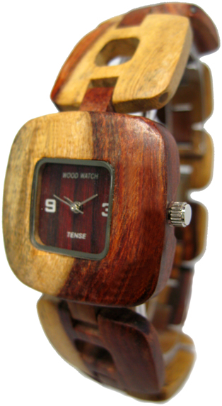 Tense Wooden Watch - Women's Retro Dual-tone Sandalwood Watch - DISCONTINUED