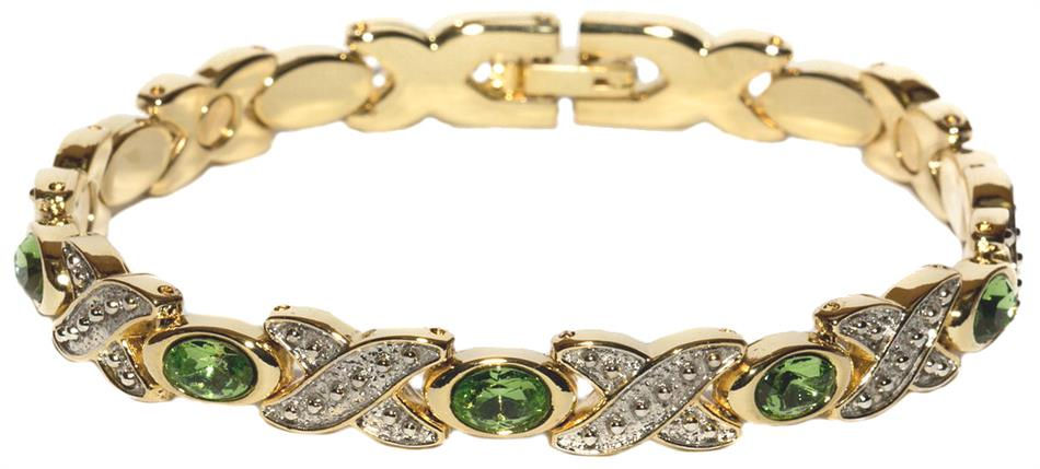 Simulated Peridot (August) - Magnetic Therapy Bracelet (BS-8)