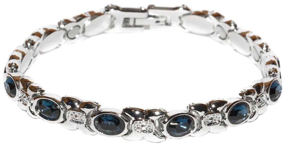 Simulated Sapphire (September) - Magnetic Therapy Bracelet (BS-9)