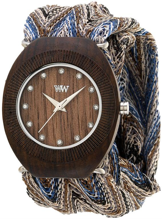 WeWood Wooden Watch - Belle Chocolate with Adjustable Cloth Bands - DISCONTINUED