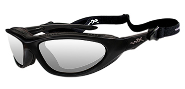 Wiley X Sunglasses - Blink Matte Black with Clear Lens - Climate Control Series - DISCONTINUED