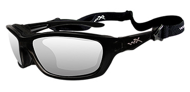 Wiley X Sunglasses - Brick Gloss Black with Clear Lens - Climate Control Series