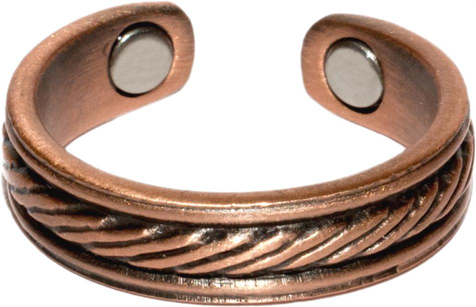 Copper Braided Center - Magnetic Therapy Ring (CCR-136) - New!