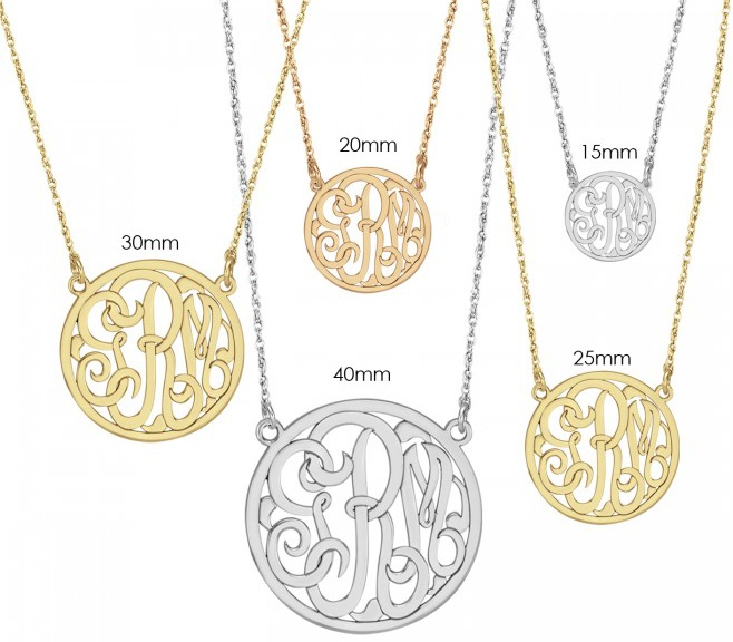 Alison & Ivy - Classic Halo Monogram Necklace - Customizable Jewelry Collection