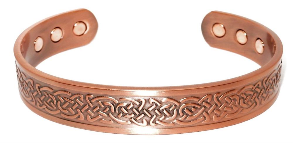 """Celtic Braids"" -  Solid Copper Magnetic Therapy Bracelet"