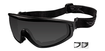 Wiley X Sunglasses - CQC Matte Black with Smoke Grey/Clear Lens - Goggles Series - DISCONTINUED