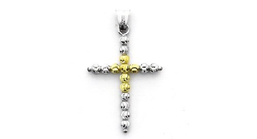 Officina Bernardi - Pendant Collection - Gold Plated Cross - Italian 925 Sterling Silver