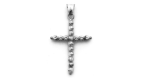 Officina Bernardi - Pendant Collection - White Cross - Italian 925 Sterling Silver