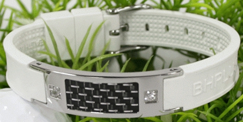 Carbon S - White - Magnetic Therapy Bracelet (Mens) (CARBONS-03) - LIMITED STOCK!