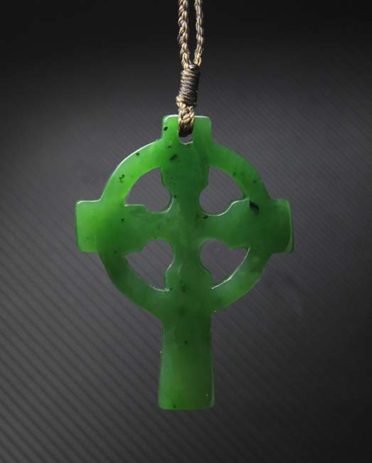 Jade Celtic Cross Pendant (UJKK-2078)