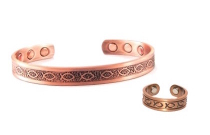 Copper Fish Set - Magnetic Therapy Bracelet and Ring Set