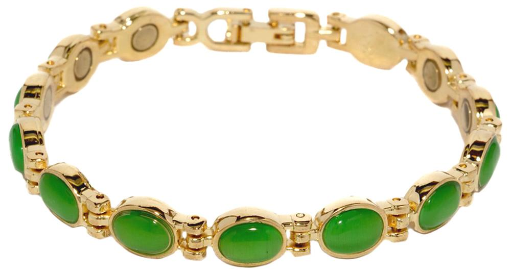 Lime Green Magnetic Therapy Bracelet D85g 2