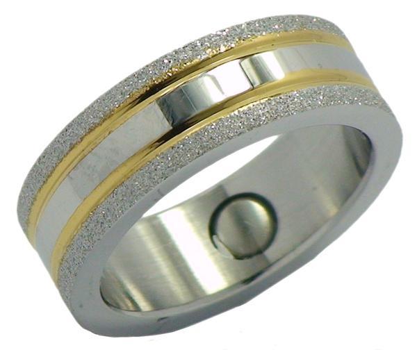Stardust Stainless Steel Magnetic Therapy Ring (SRQ4) - New!