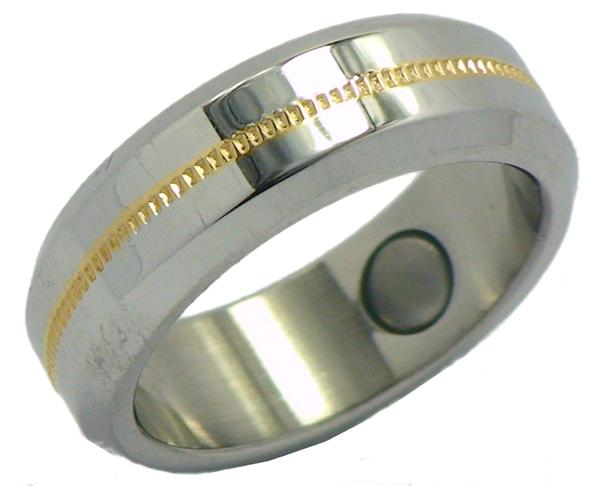 Stainless Steel Magnetic Therapy Ring (SRQ3) - New!