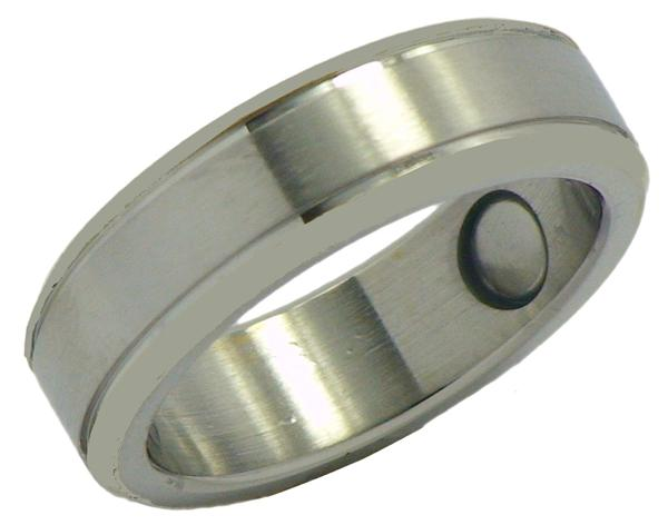 Stainless Steel Magnetic Therapy Ring (SR4) - New!