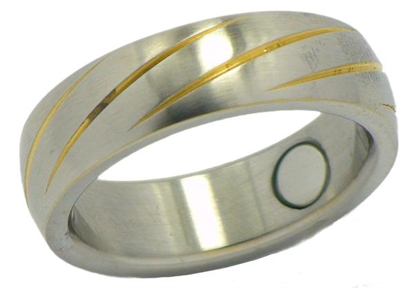Stainless Steel Magnetic Therapy Ring (SRQ1) - New!