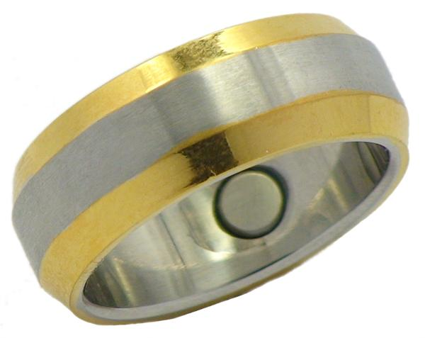 Stainless Steel Magnetic Therapy Ring (SR14) - New!