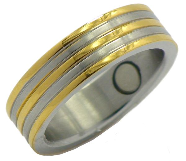 Stainless Steel Magnetic Therapy Ring (SR7) - New!