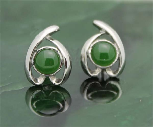 Jade Bead Earrings (E0016-ST)