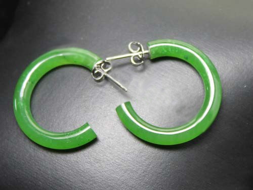 Jade Hoop Earrings (UJKK-2664)