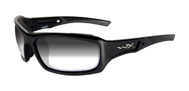 Wiley X Sunglasses - Echo Gloss Black with Light Adjusting Grey Lens - Climate Control Series - DISCONTINUED