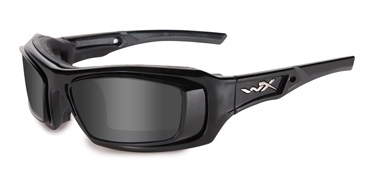 Wiley X Sunglasses - Echo Gloss Black with RX Rim & Grey Lense - Climate Control Series