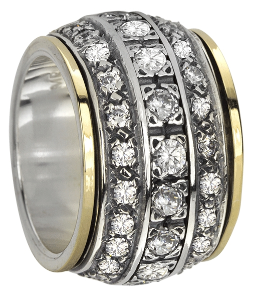 """ETERNITY"" (MR1595) - Eternal Jewels Collection - MeditationRing (Spinner Ring)"