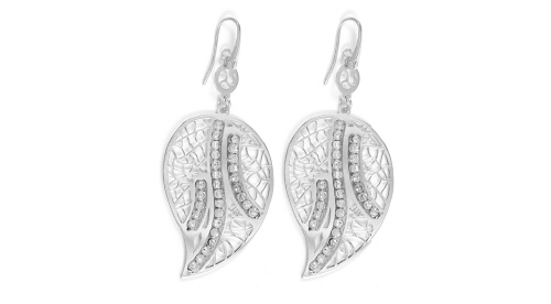 Officina Bernardi - Foglia Collection - Leaf Earrings (4 Color Choice) - Italian 925 Sterling Silver