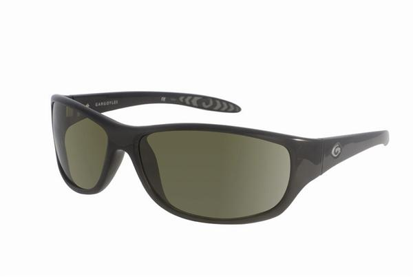 Gargoyles Sunglasses - Fabricator Black with Green Lens - Classic Collection - DISCONTINUED