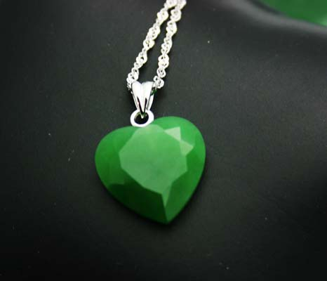 Faceted Jade Heart Pendant (UJKK-1942-2A)