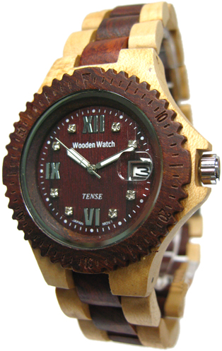 Tense Wooden Watch - Men's Maple/ Sandalwood Sport Watch - DISCONTINUED