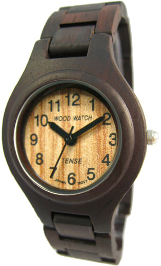Tense Wooden Watch - Men's Dark Sandalwood Watch