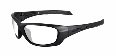 Wiley X Sunglasses - Gravity Black Ops/Matte Black with Clear Lens - Climate Control Series