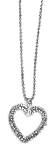 "Officina Bernardi - Heart Collection - 18"" + 2"" Necklace (4 Color Choice) - Italian 925 Sterling Silver"