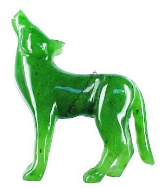 Jade Coyote Figurine (HNW-036) - DISCONTINUED