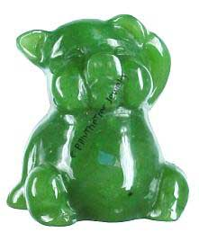 Jade Happy Pig Figurine (HNW-0595-3) DISCONTINUED