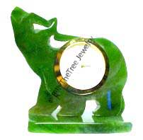 Jade Walking Bear Clock (0720-06) - DISCONTINUED